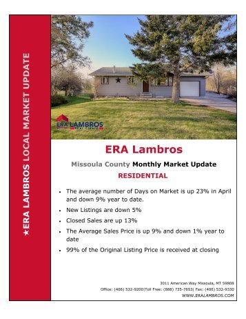 Missoula Residential Update - April 2018