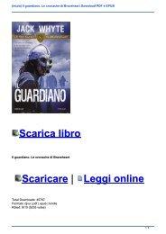 (Inizia) Il guardiano. Le cronache di Braveheart Download PDF e EPUB