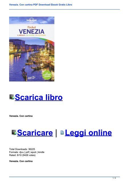 Cartina Venezia Download.Venezia Con Cartina Pdf Download Ebook Gratis Libro
