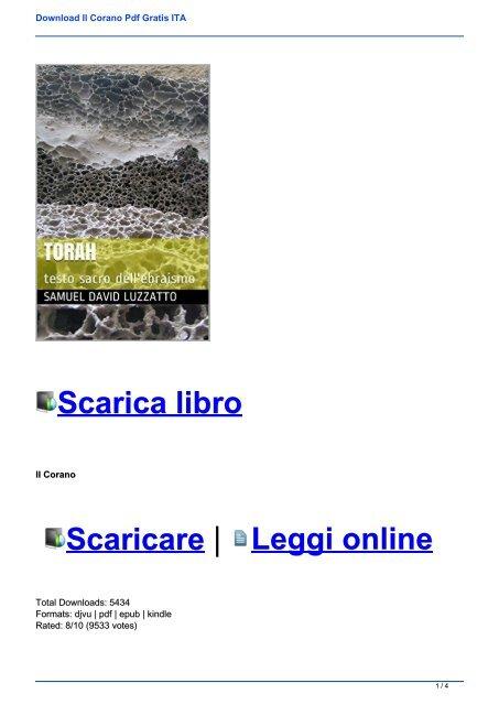 il corano in italiano gratis