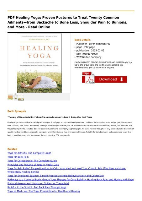 Healing Yoga Proven Postures To