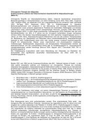 Chirurgische Therapie der Adipositas Evidenz basierte Leitlinien der ...