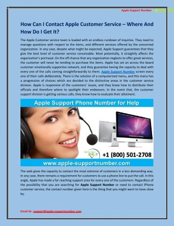 How Can I Contact Apple Customer Service +1-800-501-2708?