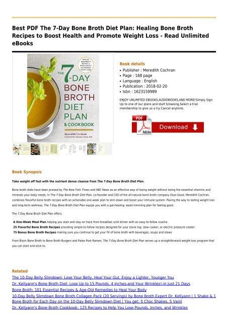 21 day bone broth diet plan free