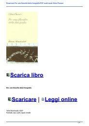Download Per una filosofia della fotografia PDF mobi epub Vilém Flusser
