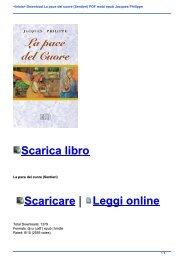 <Inizia> Download La pace del cuore (Sentieri) PDF mobi epub Jacques Philippe