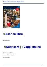 Download Libro Lavori in legno pdf gratis italiano