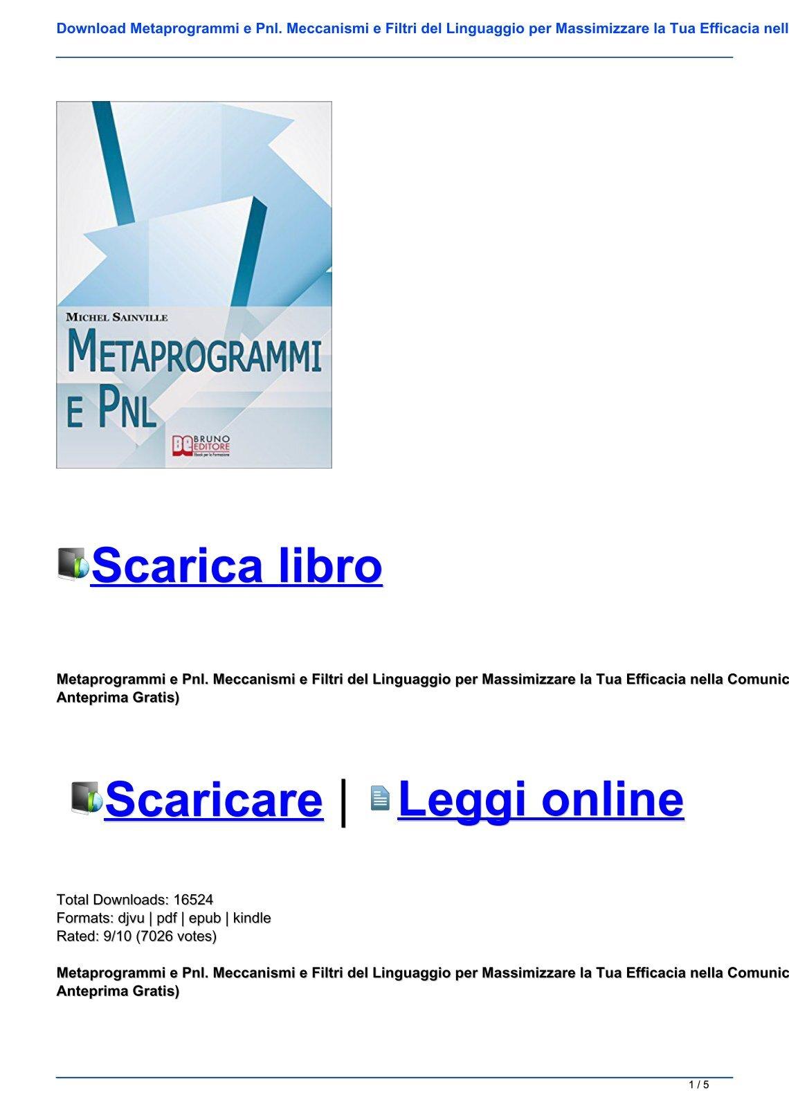 metaprogrammi pnl