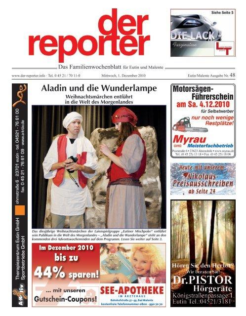 der reporter Das Familienwochenblatt für Eutin und Malente