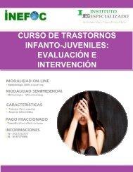 CURSO DE TRASTORNOS INFANTO-JUVENILES: EVALUACIÓN E INTERVENCIÓN