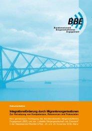 Integrationsförderung durch Migrantenorganisationen - BBE