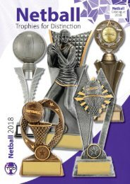 2018 Netball Trophies for Distinction