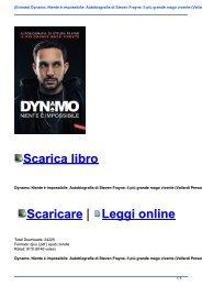 (Entrata) Dynamo. Niente è impossibile: Autobiografia di Steven Frayne. Il più grande mago vivente (Vallardi Personaggi) Download PDF e EPUB