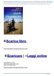 (Gioia) Download Vivere d\'avventura. Il mio giro del mondo in moto PDF mobi epub Marco Deambrogio