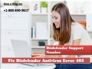 Fix Bitdefender Antivirus Error 403