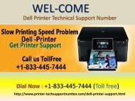 Dell Printer Customer Support Number +1-833-445-7444