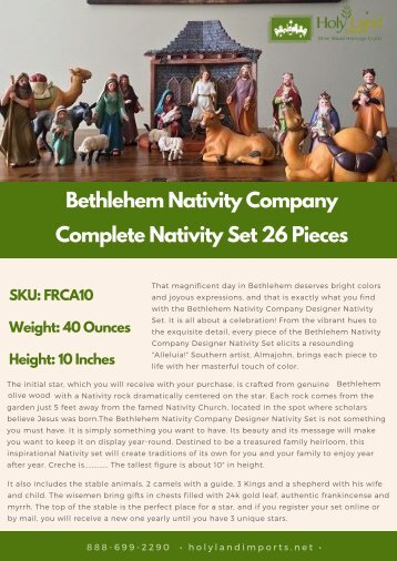 Beautiful Bethlehem Complete Nativity Set 26 Pieces