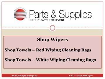 Show Towels - Red and White Wiping Cleaning Rags - shop.printersparts.com