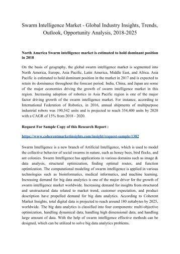 Swarm Intelligence Market