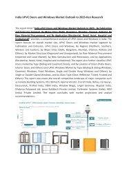 India UPVC Doors and Windows Market, Major uPVC Doors and Windows Players-Ken Research