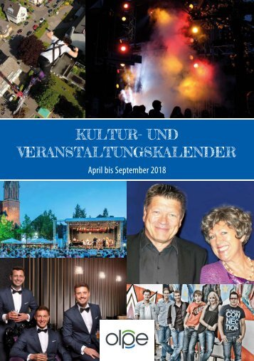 Kulturprogramm der Kreisstadt Olpe - April 2018 bis September 2018