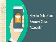 1-800-213-3740 Delete and Recover Gmail Account