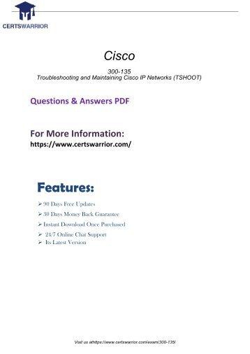 300-135 Real PDF Exam Material 2018