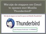 Wat zijn de stappen om Gmail te openen met Mozilla Thunderbird?