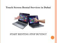 Touch Screen Rental Service in Dubai, Call us @ 0557503724 for Any Time