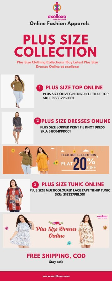 Plus Size Clothing Collections _ Buy Latest Plus Size Dresses Online at oxolloxo