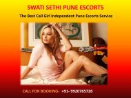 Pune Escorts Services | Swati Independent Pune Escort Service 24/7