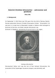 Heinrich Christian Schumacher - astronomer and geodesist