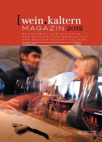 wein.kaltern Magazin 2012