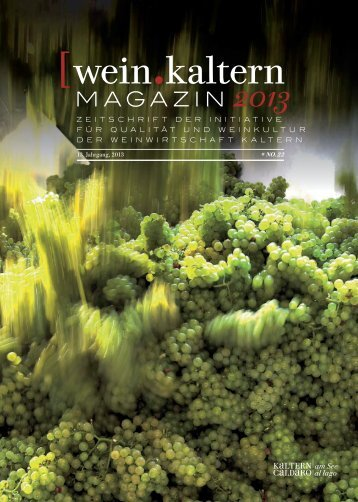 wein.kaltern Magazin 2013