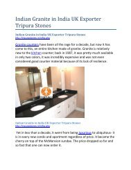 Indian Granite in India UK Exporter Tripura Stones