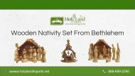 Beautiful and Affordable Wooden Nativity Set From Bethlehem