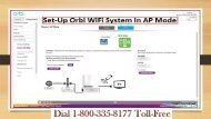 18003358177 Steps to set-up Orbi Wi-Fi system in AP mode