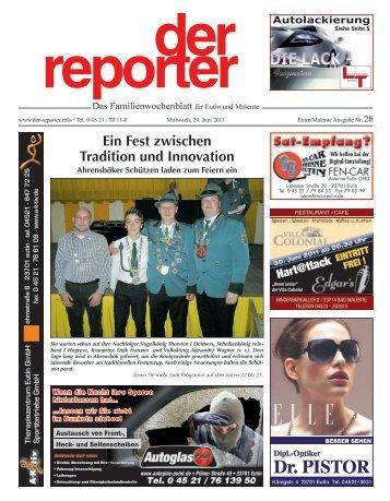 der reporter - Das Familienwochenblatt für Eutin und Malente 2011 KW 26