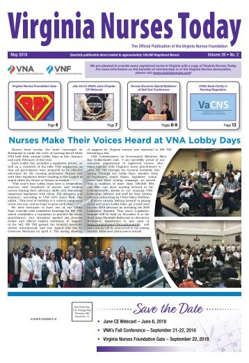 Virginia Nurses Today - May 2018