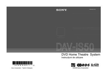 Sony DAV-IS50 - DAV-IS50 Mode d'emploi Roumain