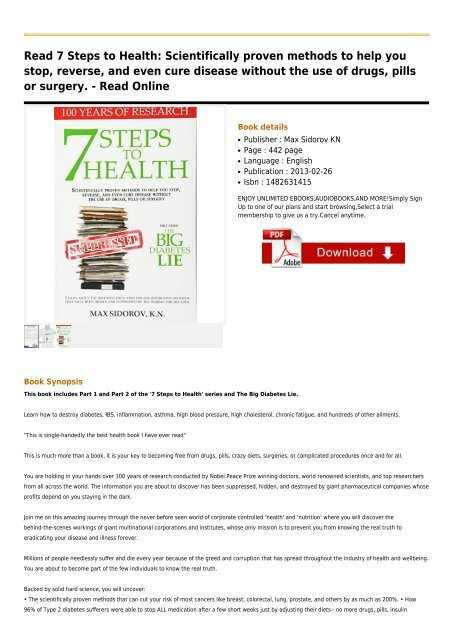 7 Steps To Health Book
