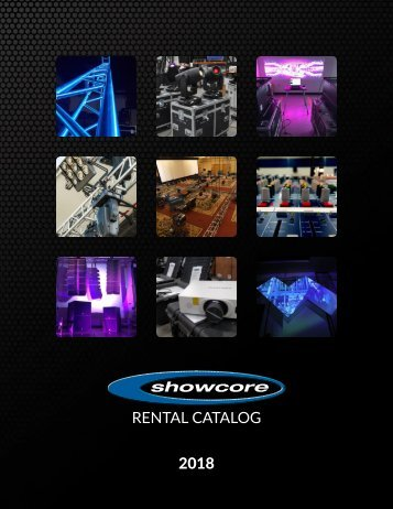 Showcore Rental Catalog 2018