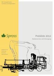 Preisliste 2012 - Spross