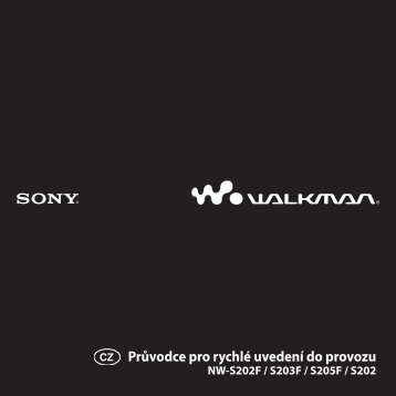 Sony NW-S203F - NW-S203F Mode d'emploi Tchèque