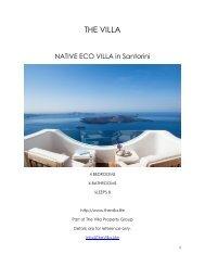 Native Eco Villa - Santorini