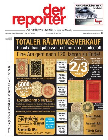 der reporter - Das Familienwochenblatt für Eutin und Malente 2011 KW 19