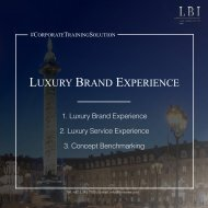 LBI Corporate Training Solution: Luxury Brand Experience
