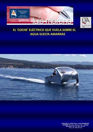 EL 'COCHE' ELÉCTRICO QUE VUELA SOBRE EL AGUA SUELTA AMARRAS - Nauta360