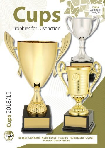 2018 Cups Trophies for Distinction