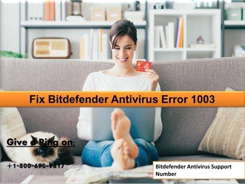 Fix Bitdefender Error 1003